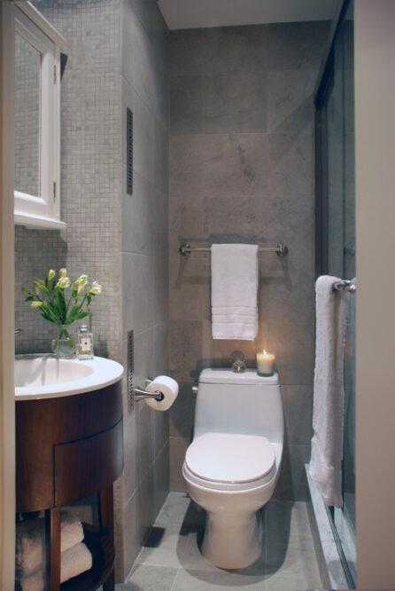 маленький туалет дизайн
