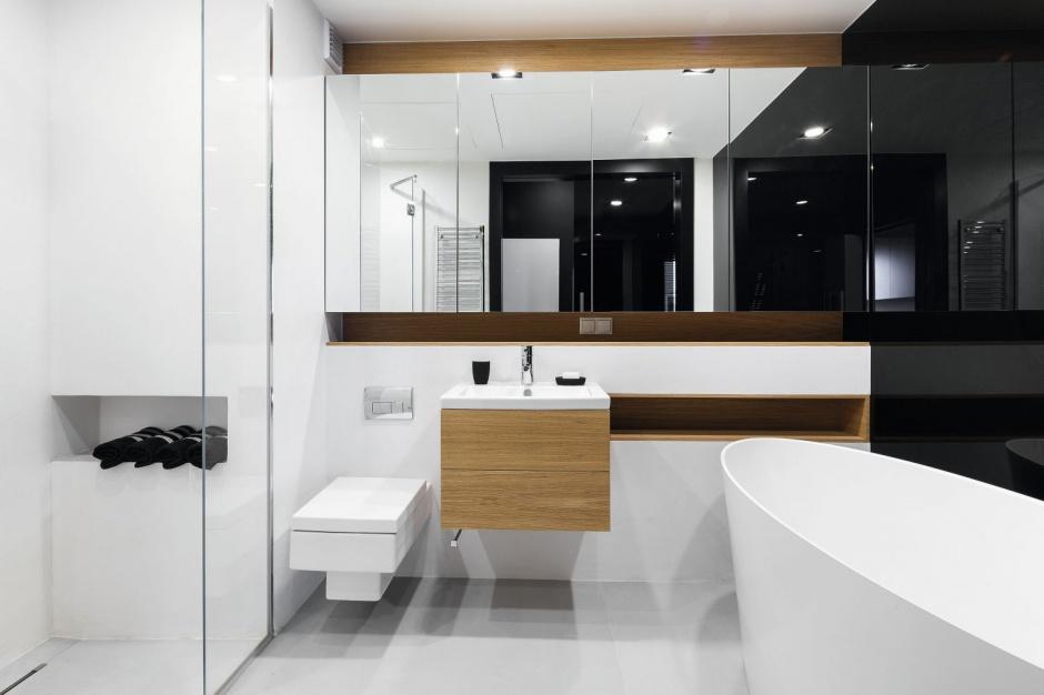простое оформление ванной комнаты