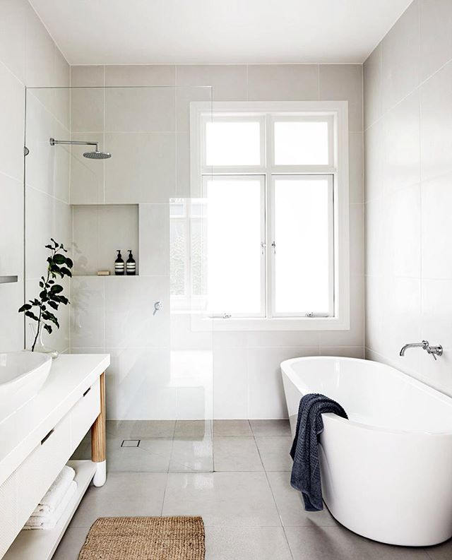 маленькая ванная стиле минимализм
