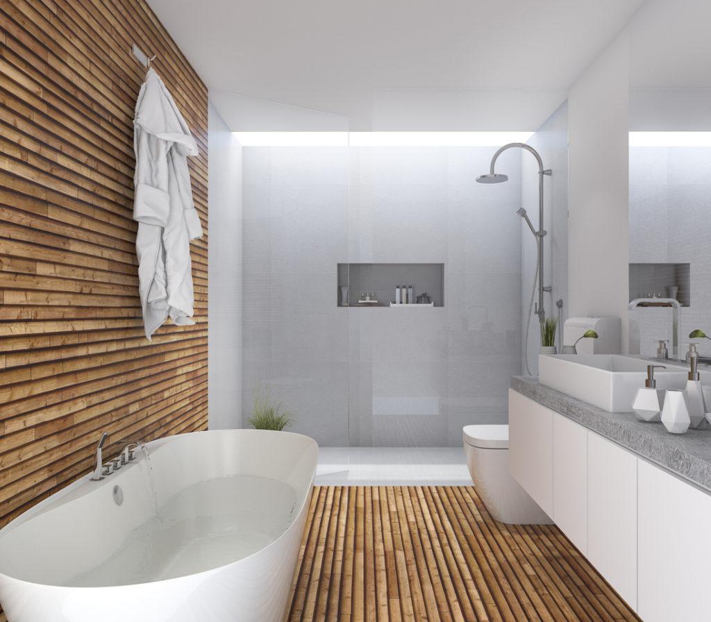 простой дизайн ванной комнаты