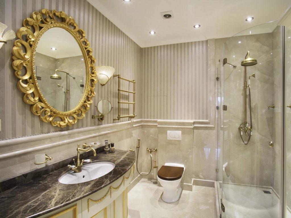 стильная ванная комната 4 кв