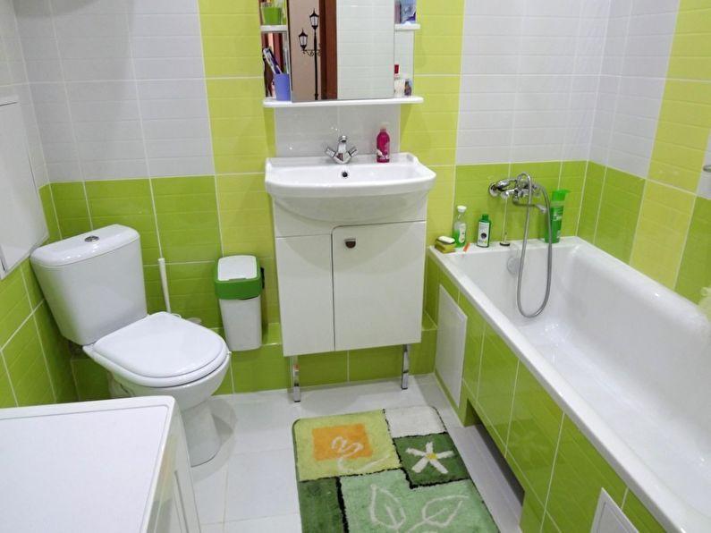 зеленая ванная комната дизайн