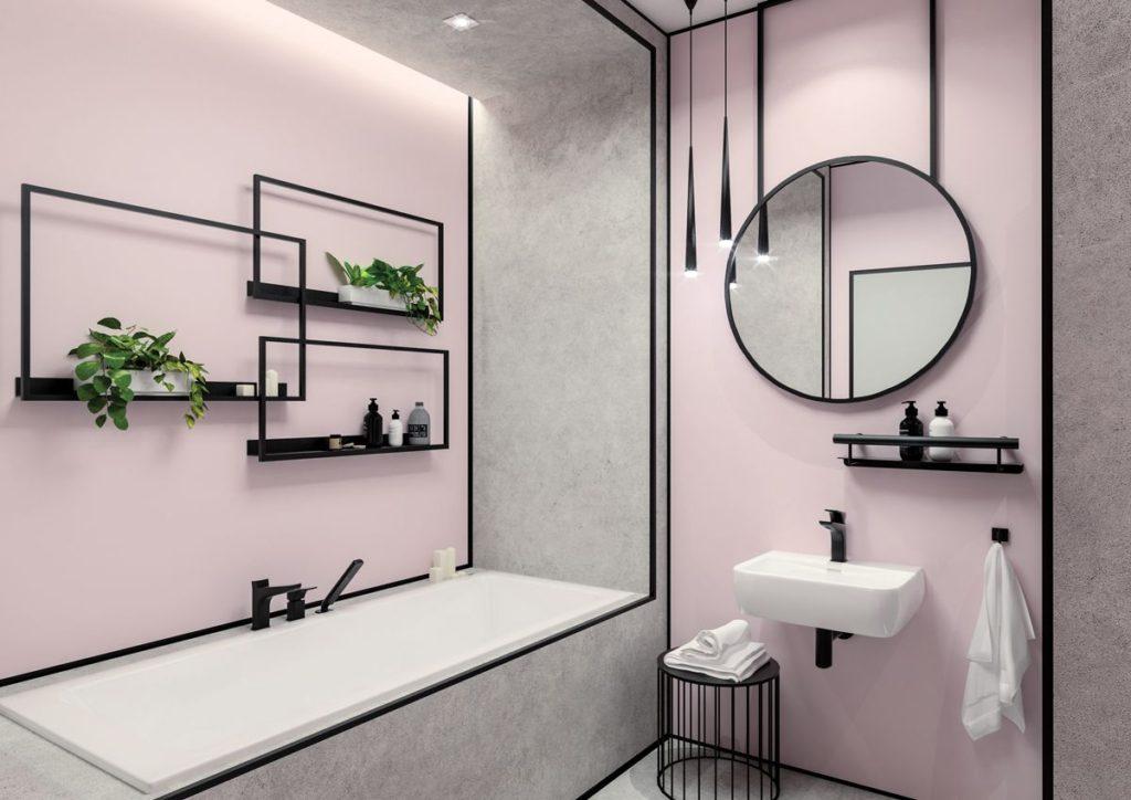ванная без кафельной плитки