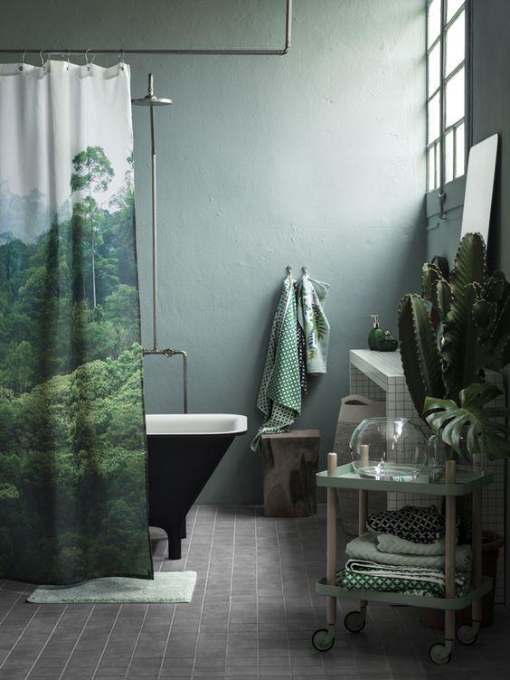 темно зеленая ванная