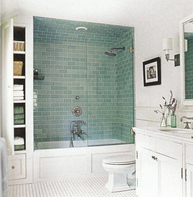 зеленая плитка +для ванной комнаты