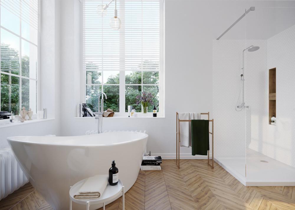 современная большая ванная комната