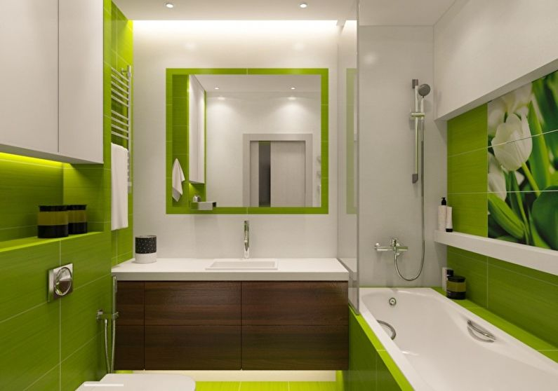 светло зеленая ванная