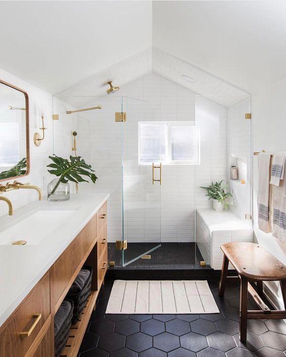 скандинавская мебель для ванной