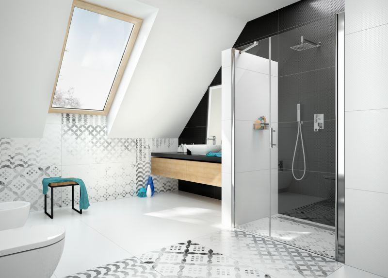 стеклянный душ без поддона
