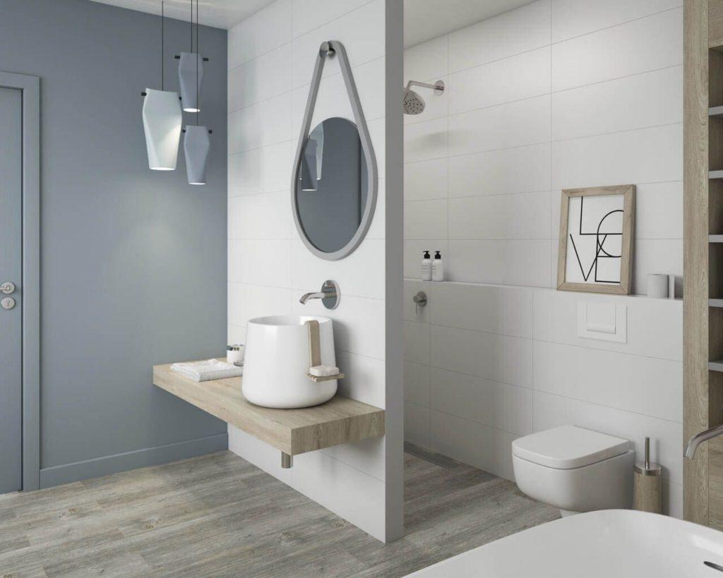 скандинавский стиль ванная квартирах