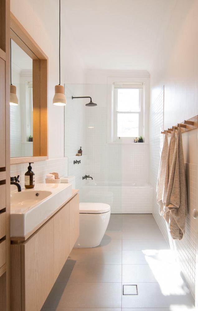 раковина в скандинавском стиле в ванной