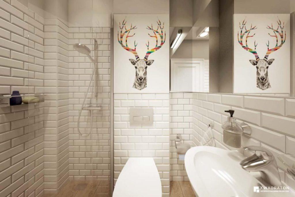 ванная в скандинавском современном стиле