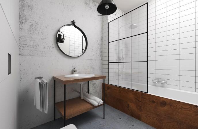 лофт в ванной фото