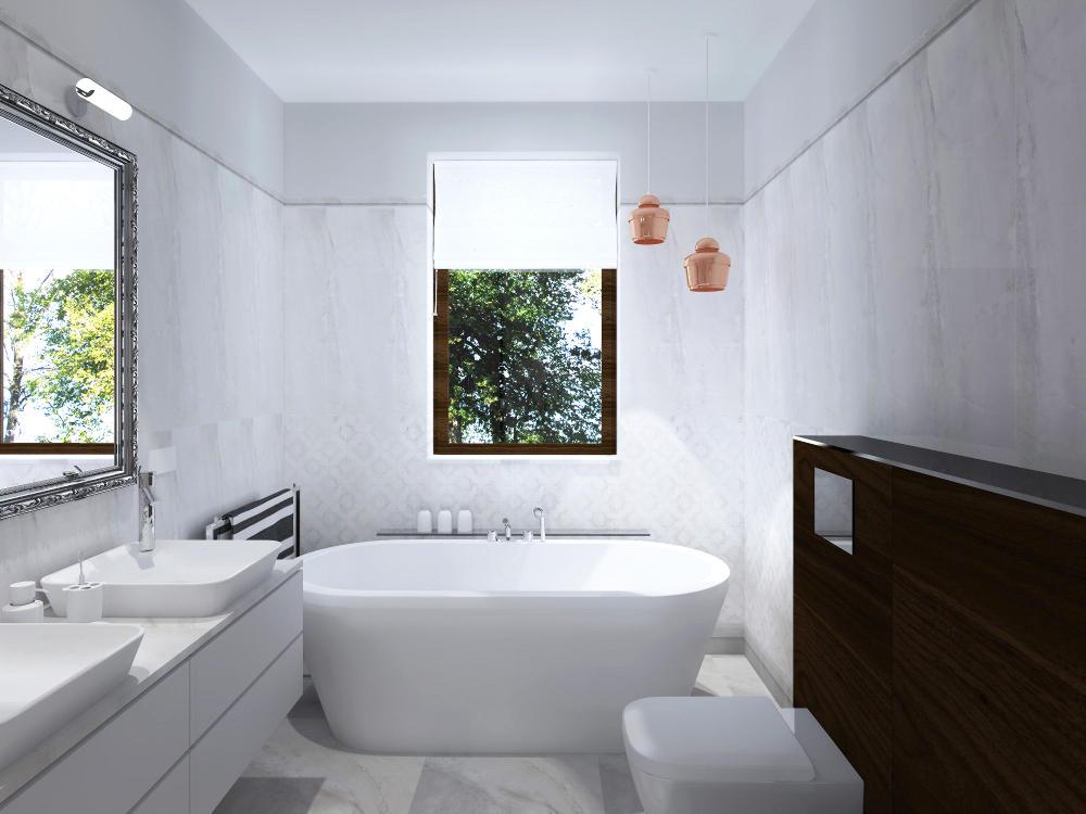 планировка ванной комнаты с окном