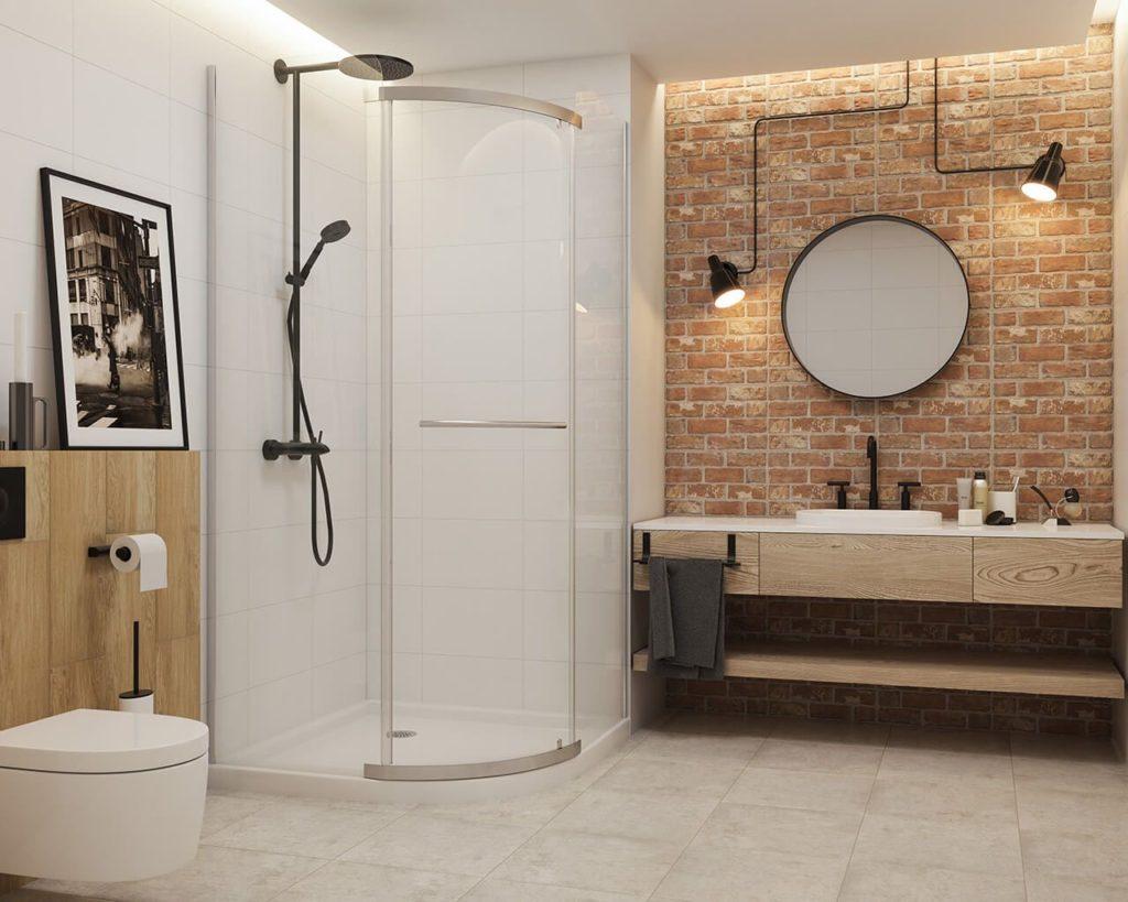 лофт в маленькой ванной