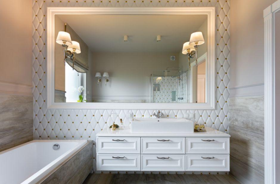 зеркало +в интерьере ванной
