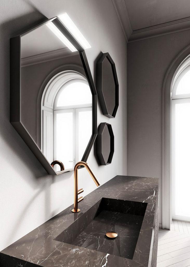 красивое зеркало в ванную