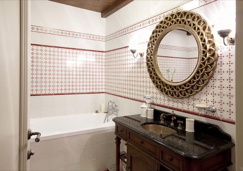 дизайн зеркала в ванной
