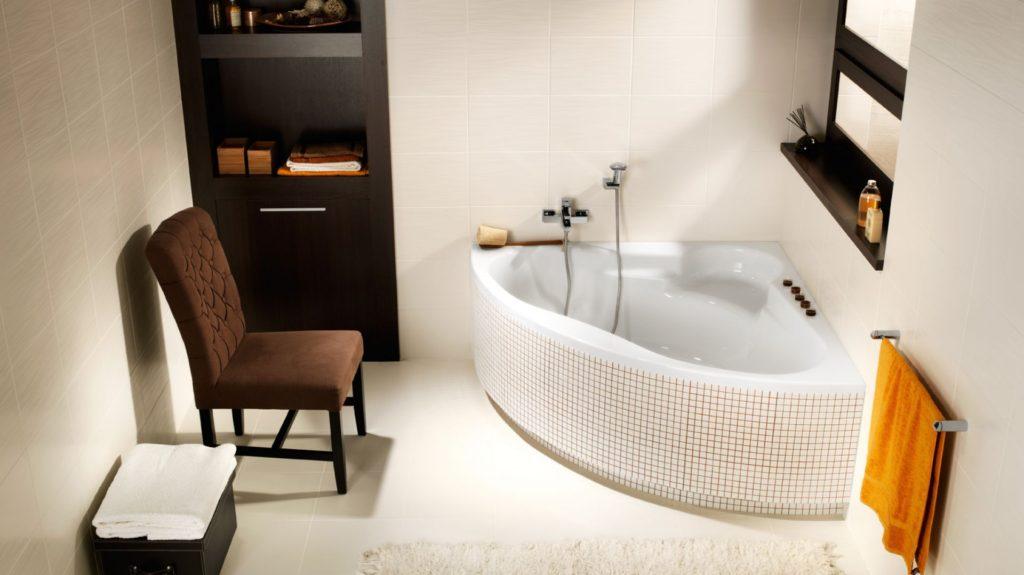 угловые стальные ванны