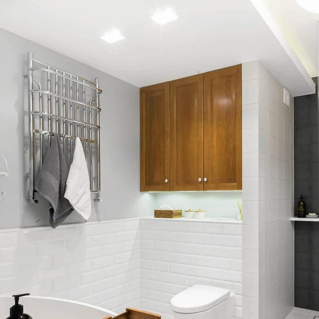 ванна полотенцесушитель установка