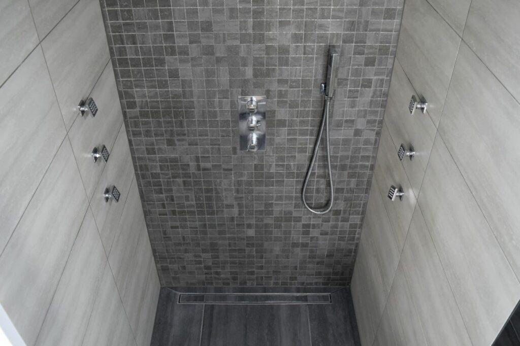 душ без поддона в квартире