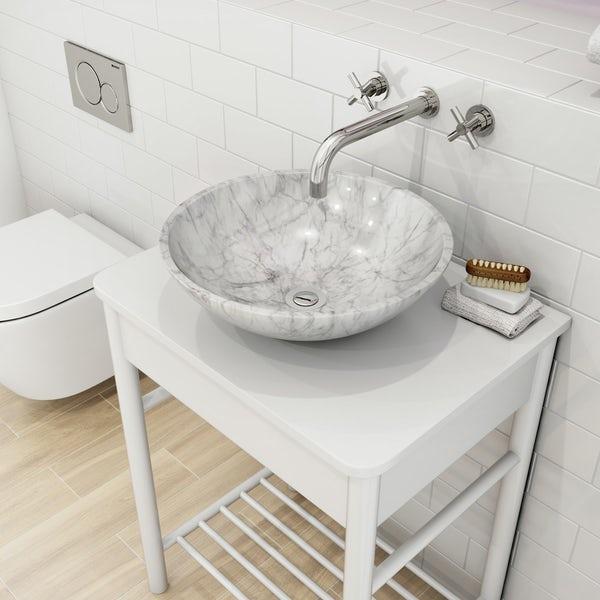 раковина из мрамора для ванной