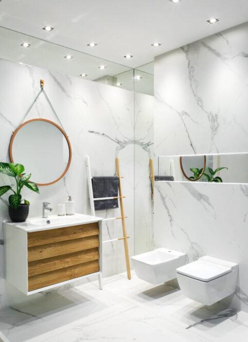 модный интерьер ванной