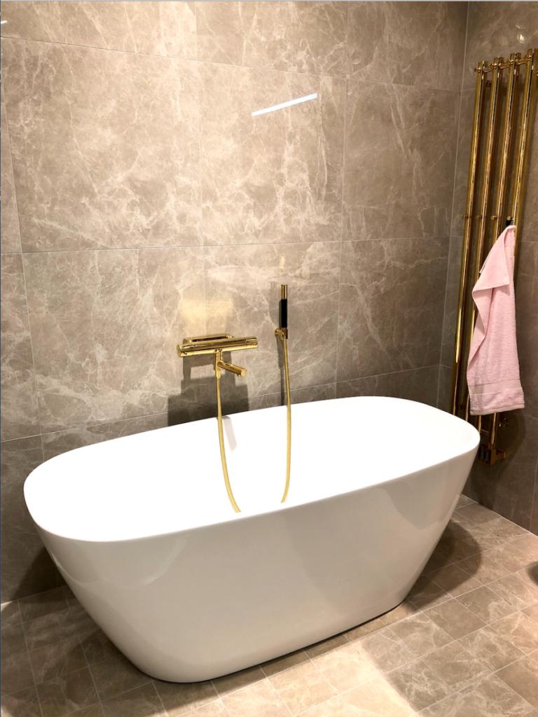 ванная белый мрамор