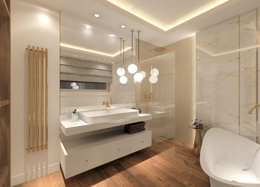 ванная серая под мрамор