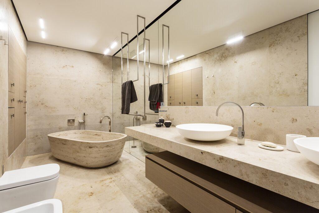 ванная комната под мрамор фото