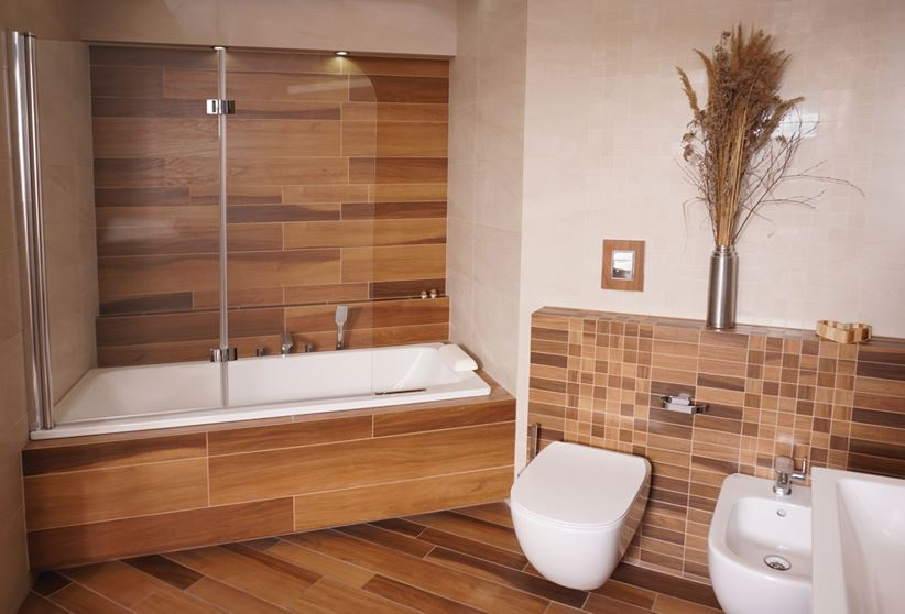 ванная под дерево фото