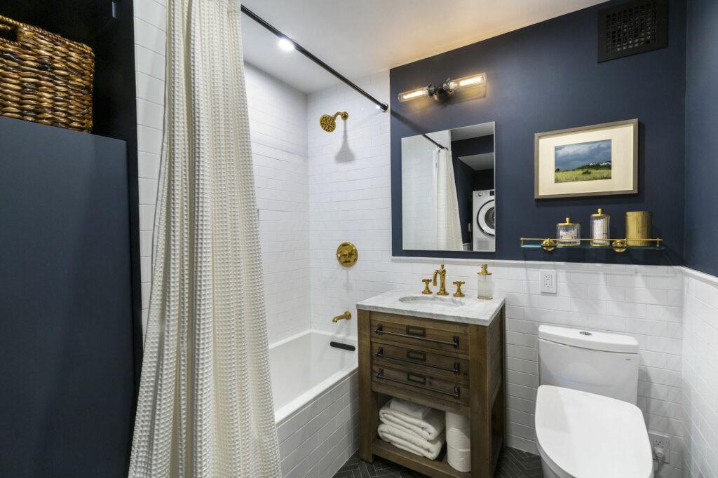ванная в синем стиле