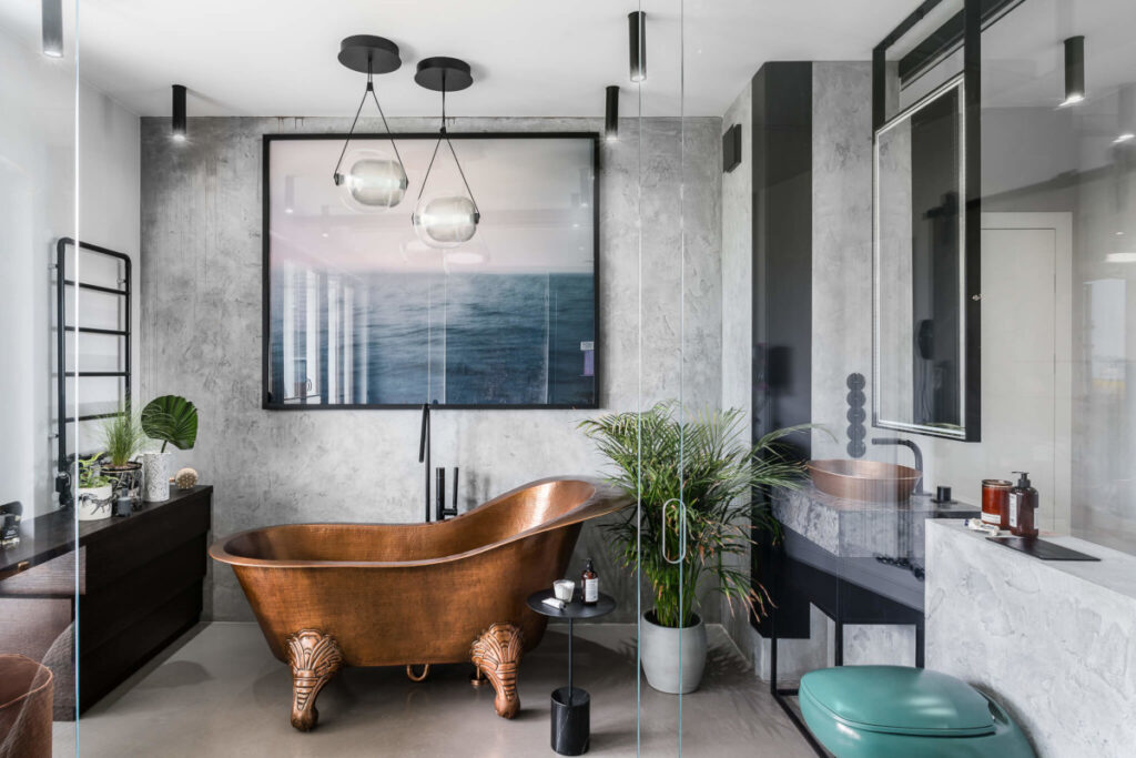 дизайн ванной комнаты плитка