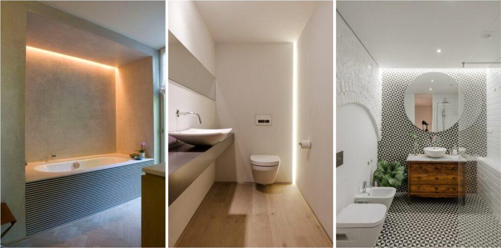 светодиодный встроенный светильник для ванной
