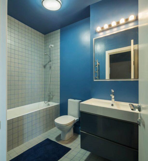 дизайн покраски ванной комнаты