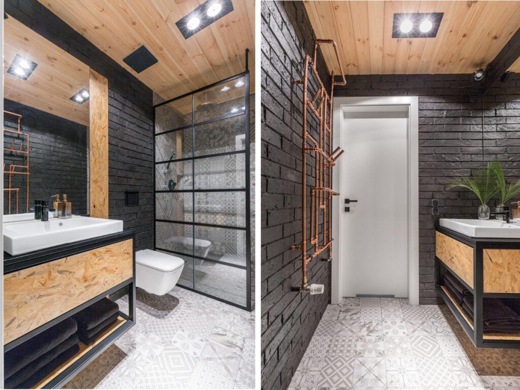 серо коричневая ванная