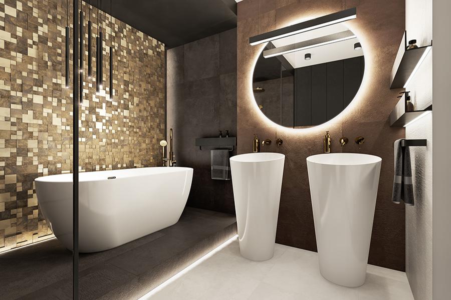 темно коричневая ванная