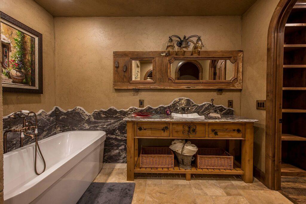 интерьер ванной коричневый