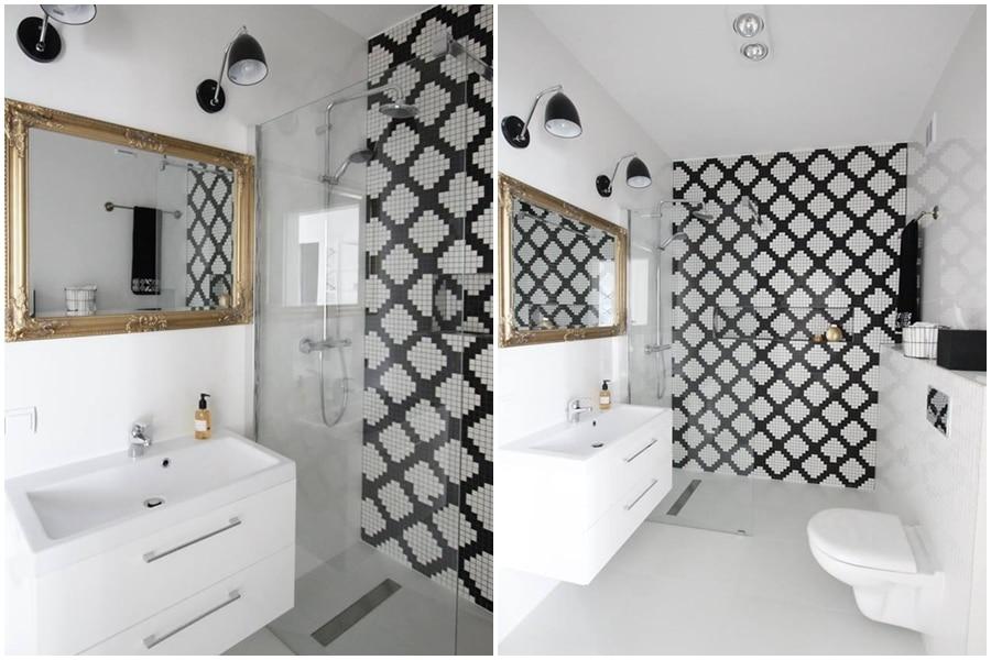 ванные в черно белом варианте