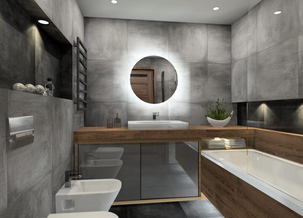 современная маленькая ванная