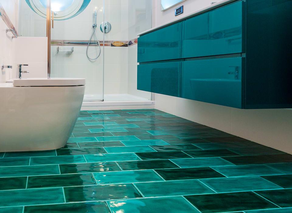 дизайн бирюзовой ванной