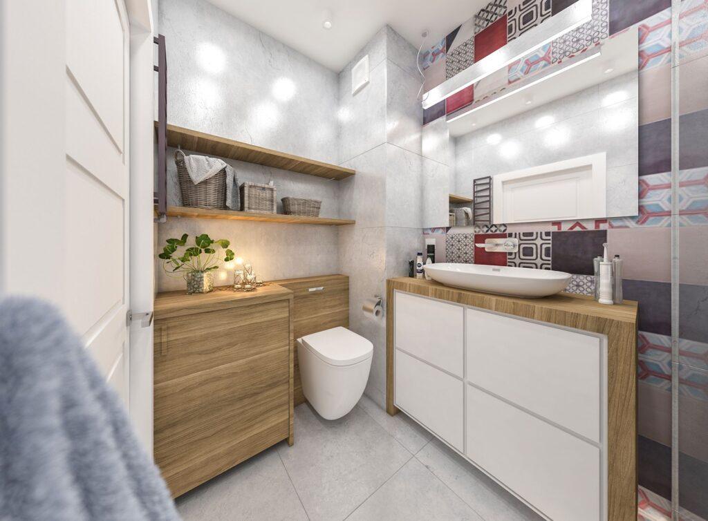 ванна выложенная плиткой