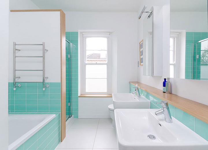 ванная в бирюзовом цвете